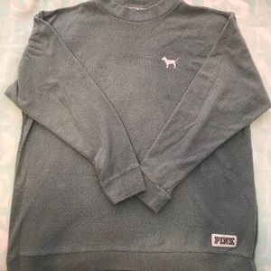 PINK Victoria's Secret Inside-Out Campus Sweater